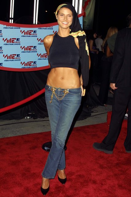 Heidi Klum during 2001 MTV Video Music Awards – Arrivals at The Metropolitan Opera House at Lincoln Center in New York City, New York, United States on September 6, 2001. (Photo by Jim Spellman/WireImage)