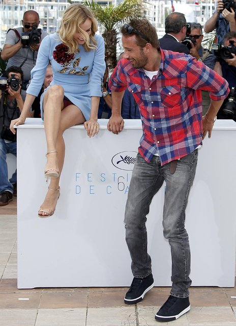"Cast members Diane Kruger (L) and Matthias Schoenaerts pose during a photocall for the film ""Maryland"" (Disorder) in competition for the category ""Un Certain Regard"" at the 68th Cannes Film Festival in Cannes, southern France, May 16, 2015. (Photo by Eric Gaillard/Reuters)"