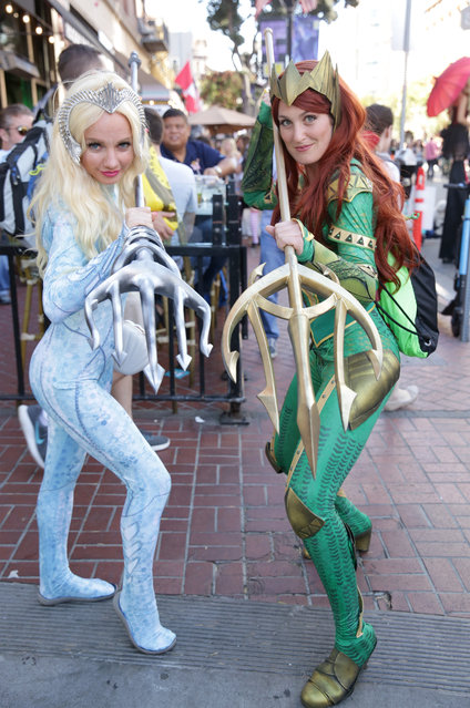 Cosplayers attend 2019 Comic-Con International on July 19, 2019 in San Diego, California. (Photo by Quinn P. Smith/Getty Images)
