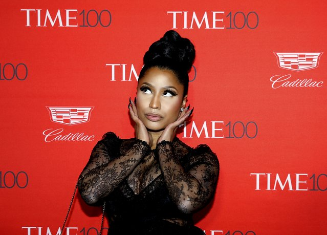 Recording artist Nicki Minaj poses for photographers on the red carpet as she arrives for the TIME 100 Gala in Manhattan, New York, April 26, 2016. (Photo by Shannon Stapleton/Reuters)