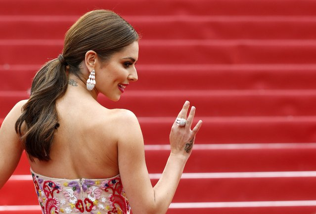 "British singer Cheryl Fernandez-Versini aka Cheryl Cole arrives for the screening of ""Ma Loute"" (Slack Bay) during the 69th annual Cannes Film Festival, in Cannes, France, 13 May 2016. (Photo by Sebastien Nogier/EPA)"