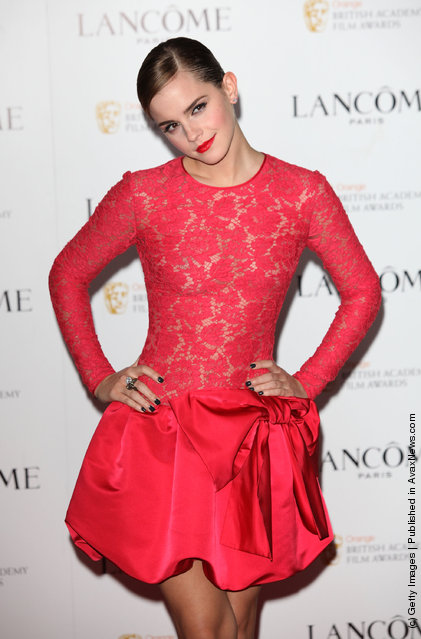Emma Watson attends special pre-Orange British Academy Film Awards party