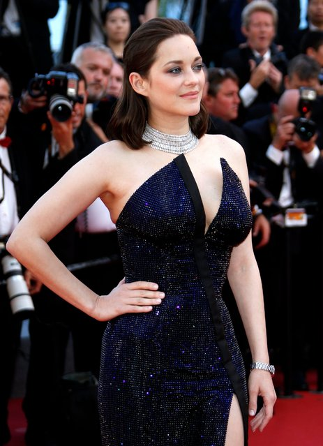 French actress Marion Cotillard arrives for the 70th Anniversary ceremony during the 70th annual Cannes Film Festival, in Cannes, France, 23 May 2017. The festival runs from 17 to 28 May. (Photo by Sebastien Nogier/EPA)