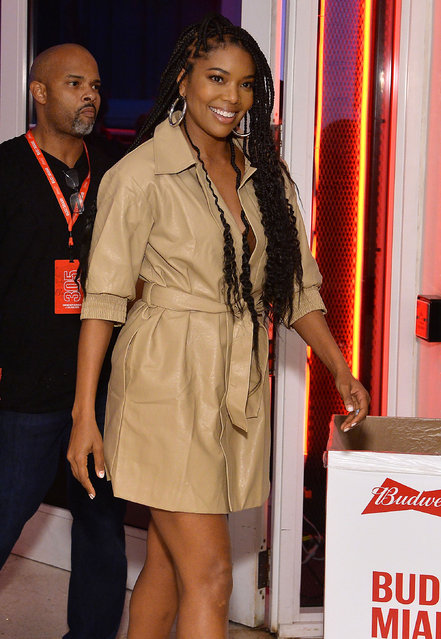 Gabrielle Union attends Night Two of BUDX Miami by Budweiser on February 01, 2020 in Miami Beach, Florida. (Photo by Noam Galai/Getty Images for BudX)