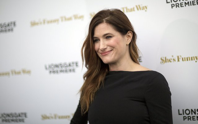 """Cast member Kathryn Hahn poses at the premiere of """"She's Funny That Way"""" in Los Angeles, California August 19, 2015. (Photo by Mario Anzuoni/Reuters)"""