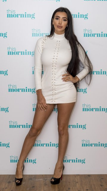 "Chloe Khan at ""This Morning"" TV show in London, UK on August 10, 201. (Photo by Ken McKay/ITV/Rex Features/Shutterstock)"