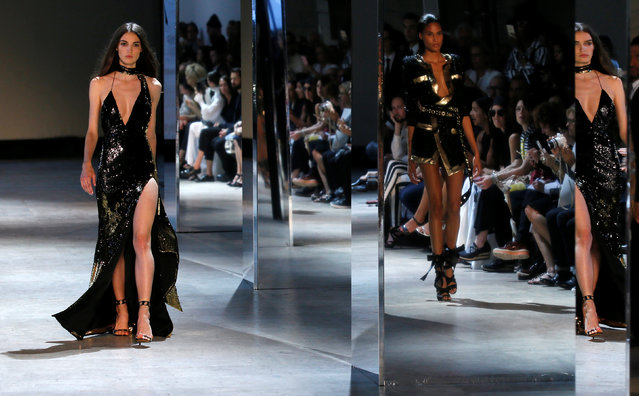 Models present creations by French designer Alexandre Vauthier as part of his Haute Couture Fall/Winter 2016/2017 collection in Paris, France, July 5, 2016. (Photo by Gonzalo Fuentes/Reuters)
