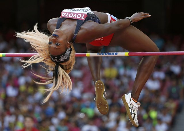 Priscilla Frederick of Antigua & Barbuda competes in the women's high jump qualifying round during the 15th IAAF World Championships at the National Stadium in Beijing, China, August 27, 2015. (Photo by Phil Noble/Reuters)