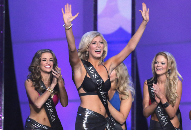 Miss Colorado Kelley Johnson attends the 2016 Miss America Competition at Boardwalk Hall Arena on September 13, 2015 in Atlantic City, New Jersey. (Photo by Donald Kravitz/Getty Images for dcp)