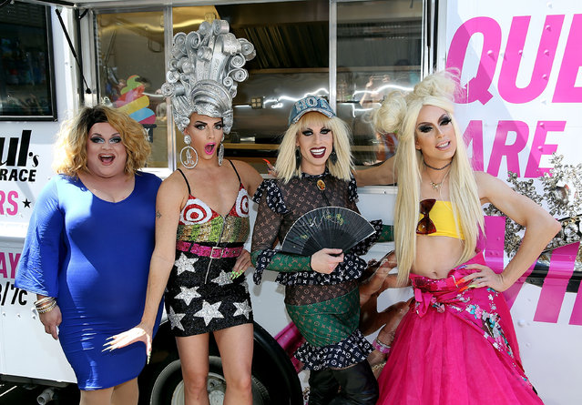 Ginger Ming, Alyssa Edwards, Katya and Alaska attend RuPauls' Drag Race All Stars Celebrate Season 2 With Big Gay Ice Cream at Union Square on August 24, 2016 in New York City. (Photo by Robin Marchant/Getty Images)