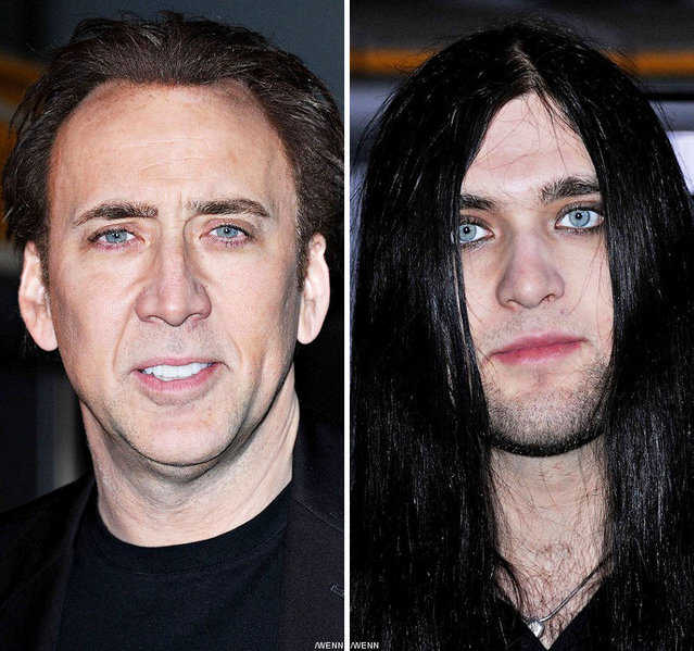 Son And Dad Nicolas and  Weston Cage