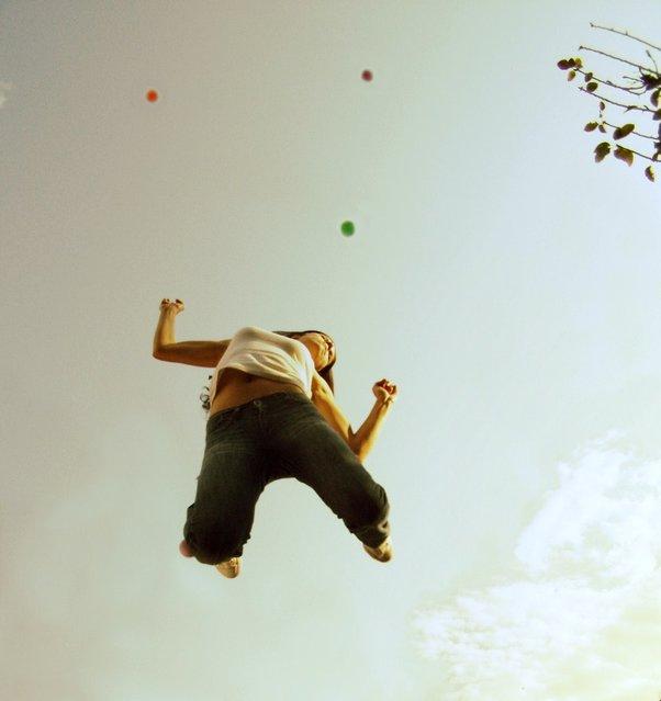 """Jumpology"". ""Do you feel alive, she said"". (Photo by Anna Theodora)"