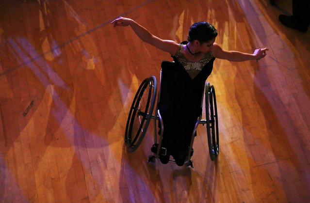 Anastasia Vasilenko of Russia practises before her start during IPC Wheelchair Dance Sport European Championships in Lomianki near Warsaw, November 9, 2014. (Photo by Kacper Pempel/Reuters)
