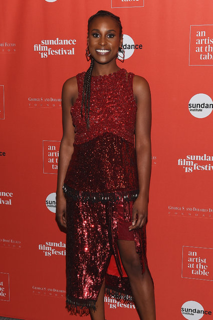 Actress Issa Rae attends An Artist at the Table Cocktail Reception and Dinner during the 2018 Sundance Film Festival at DeJoria Center on January 18, 2018 in Park City, Utah. (Photo by Nicholas Hunt/Getty Images)