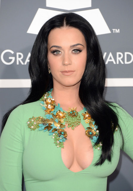 Katy Perry arrives at the 55th Annual Grammy Awards at the Staples Center on February 10, 2013 in Los Angeles, California. (Photo by Dan MacMedan/WireImage)