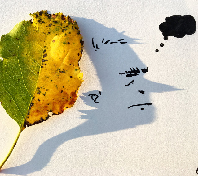 """""""Leaf me alone"""". (Photo by Vincent Bal/The Guardian)"""