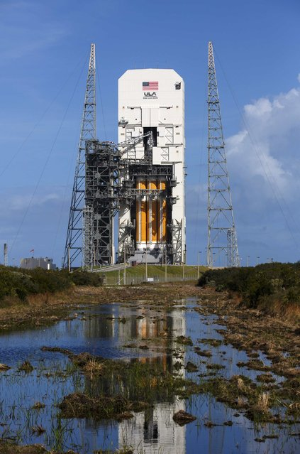 The Delta IV rocket with the Orion spacecraft sits on the Space Launch Complex 37B pad at the Cape Canaveral Air Force Station in Cape Canaveral, Florida December 2, 2014. (Photo by Scott Audette/Reuters)