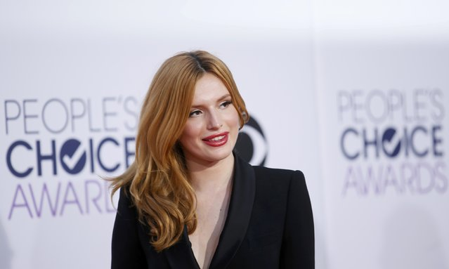 Actress Bella Thorne arrives at the 2015 People's Choice Awards in Los Angeles, California January 7, 2015. (Photo by Danny Moloshok/Reuters)