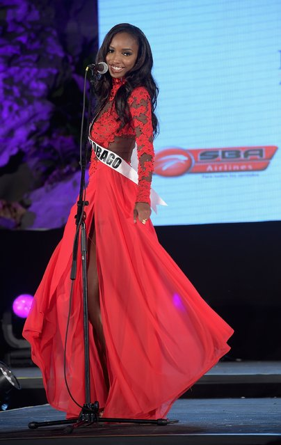 Miss Trinidad and Tobago Jevon King attends Miss Universe Welcome Event and Reception at Downtown Doral Park on January 9, 2015 in Doral, Florida. (Photo by Gustavo Caballero/Getty Images)