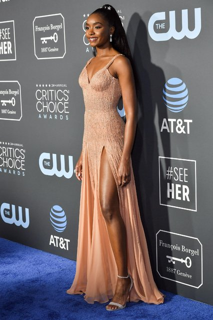 Kiki Layne attends the 24th annual Critics' Choice Awards at Barker Hangar on January 13, 2019 in Santa Monica, California. (Photo by Rob Latour/Rex Features/Shutterstock)