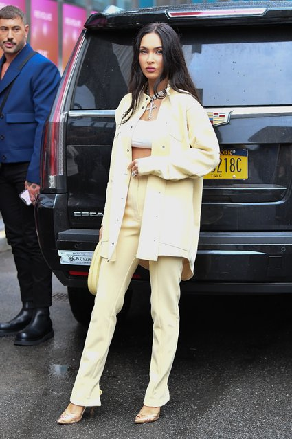 American actress and model Megan Fox seen at the Revolve event during NYFW 2021 in New York City on September 9, 2021. (Photo by Robert O'Neil/Splash News and Pictures)