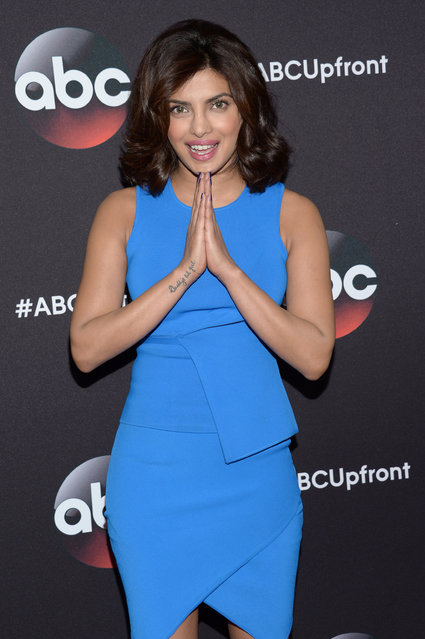 Priyanka Chopra arrives at the ABC Network 2015 Programming Upfront at Avery Fisher Hall on Tuesday, May 12, 2015, in New York. (Photo by Evan Agostini/Invision/AP Photo)