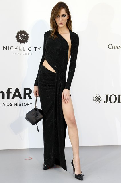 Teddy Quinlivan poses for photographers upon arrival at the amfAR, Cinema Against AIDS, benefit at the Hotel du Cap-Eden-Roc, during the 72nd international Cannes film festival, in Cap d'Antibes, southern France, Thursday, May 23, 2019. (Photo by Eric Gaillard/Reuters)