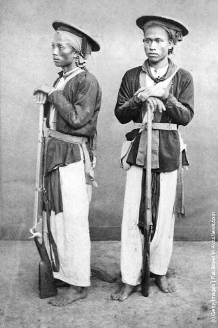 1885: Soldiers of the Chinese Army, Cochin, China