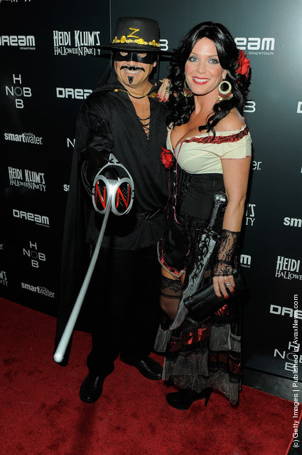 Kevin Mazur and Jennifer Mazur attend Heidi Klum's 12th annual Halloween party