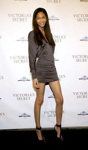 Chanel Iman attends the grand opening cocktail party for the new Victoria Secret Lexington Avenue Flagship Store on December 2, 2008 in New York City. (Photo by Gabriela Maj/Getty Images)
