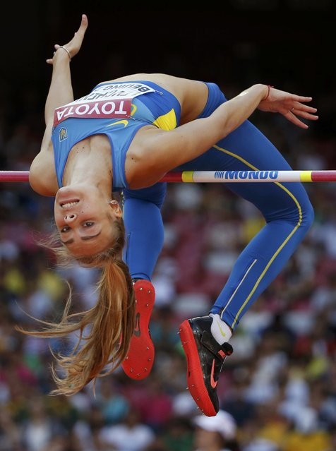 Yuliya Levchenko of Ukraine competes in the women's high jump qualifying round during the 15th IAAF World Championships at the National Stadium in Beijing, China, August 27, 2015. (Photo by Phil Noble/Reuters)