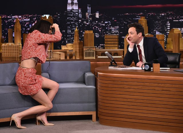 "Kendall Jenner Visits ""The Tonight Show Starring Jimmy Fallon"" at Rockefeller Center on February 14, 2017 in New York City. (Photo by Theo Wargo/Getty Images For NBC)"