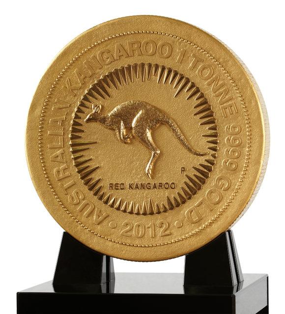 1 Tonne Gold Kangaroo Coin
