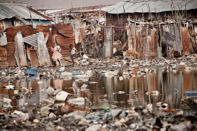 Port-au-Prince, Haiti. Cite Soleil, shanty town in November 2003. (Photo by Jean-Claude Coutausse)