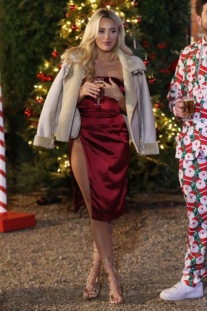"""Amber Turner at the """"The Only Way is Essex"""" TV show Christmas Special filming in Suffolk, England on November 23, 2017. (Photo by Beretta/Sims/Rex Features/Shutterstock)"""