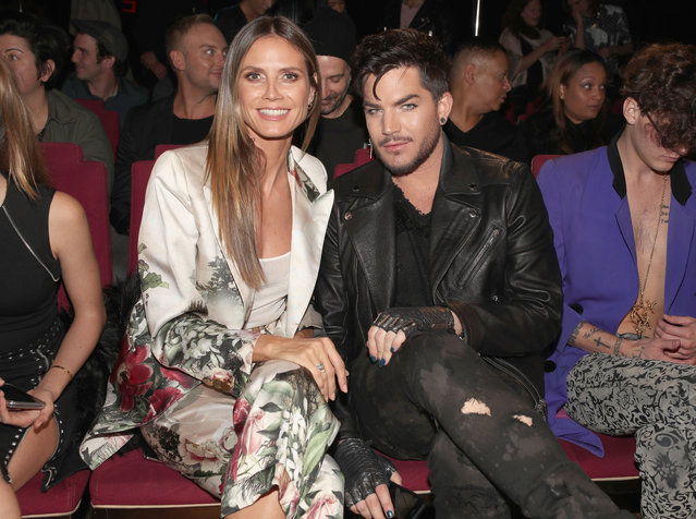 Heidi Klum (L) and Adam Lambert attend the Wolk Morais Collection 6 Fashion Show at The Hollywood Roosevelt Hotel on January 17, 2018 in Los Angeles, California. (Photo by Christopher Polk/Getty Images)