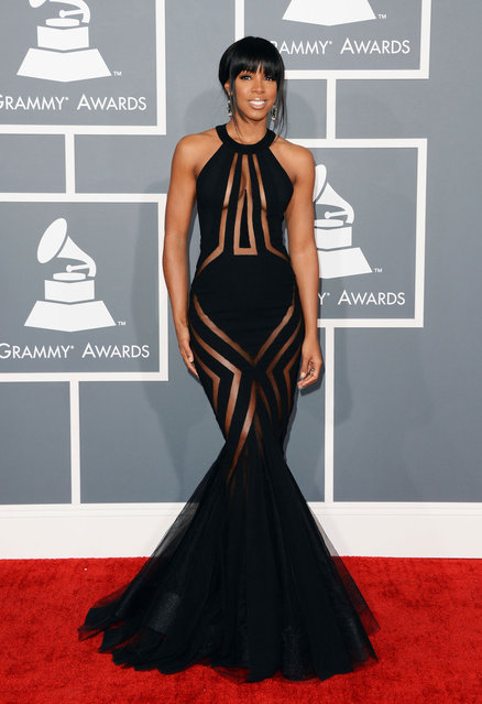Kelly Rowland arrives at the The 55th Annual GRAMMY Awards on February 10, 2013 in Los Angeles, California. (Photo by WireImage)