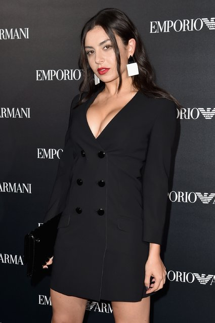 Charli XCX attends the Emporio Armani show as part of the Paris Fashion Week Womenswear Spring/Summer 2017  on October 3, 2016 in Paris, France. (Photo by Pascal Le Segretain/Getty Images)