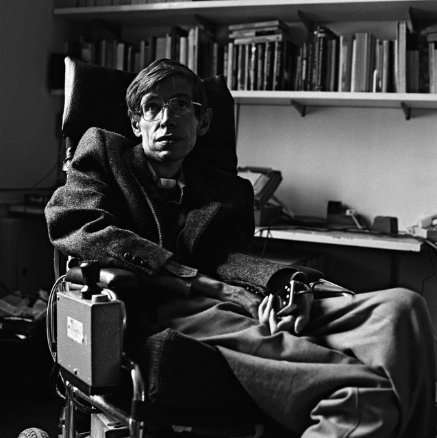 British theoretical physicist Stephen Hawking, Cambridge University Professor and Fellow, circa 1985. Stephen Hawking, the brightest star in the firmament of science, whose insights shaped modern cosmology and inspired global audiences in the millions, has died aged 76. (Photo by Gemma Levine/Getty Images)