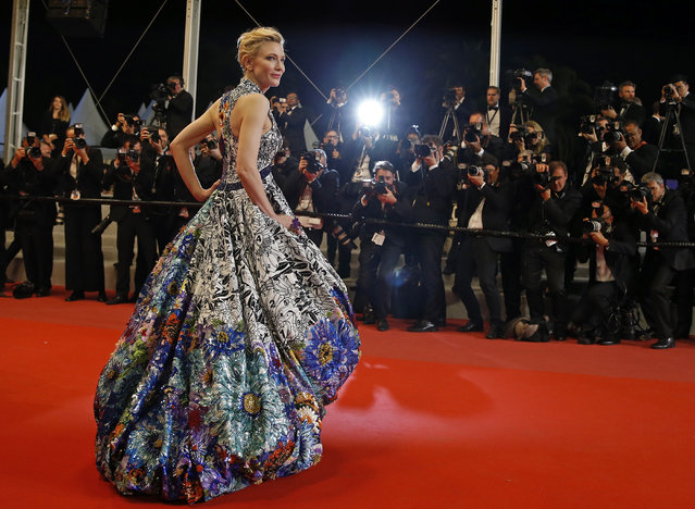 Cate Blanchett, Jury President of the 71st Cannes Film Festival, poses during the screening of the film Cold War (Zimna wojna) May 10, 2018 during the 71st annual Cannes Film Festival in Cannes, France. (Photo by Stephane Mahe/Reuters)