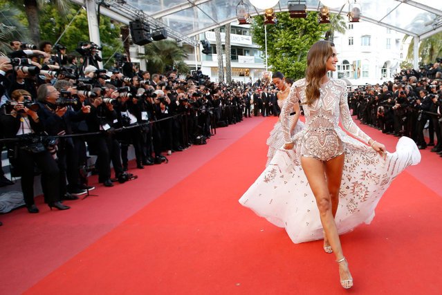 "Brazilian model Izabel Goulart for the screening of the film ""Sink Or Swim (Le Grand Bain)"" at the 71st Cannes Film Festival, France on May 13, 2018. (Photo by Stephane Mahe/Reuters)"