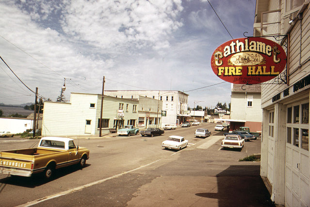 The town of Cathlamet, Washington, on the Columbia River, boasted a population of 656 in May 1973. Today the population is listed as 534. (Photo by David Falconer/NARA via The Atlantic)