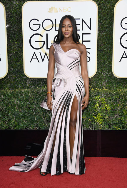Model Naomi Campbell attends the 74th Annual Golden Globe Awards at The Beverly Hilton Hotel on January 8, 2017 in Beverly Hills, California. (Photo by Frazer Harrison/Getty Images)