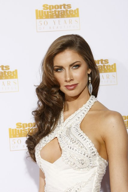 Katherine Webb arrives for the 50 Years of Beautiful broadcast special show celebrating the 50th Anniversary of the Sports Illustrated Swimsuit Issue at the Dolby Theater in Los Angeles, California, January 14, 2014. (Photo by David McNew/Reuters)