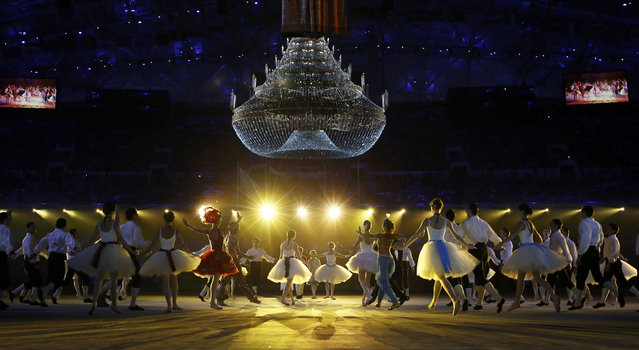 Performers take part in the closing ceremony for the Sochi 2014 Winter Olympic Games February 23, 2014. (Photo by Marko Djurica/Reuters)