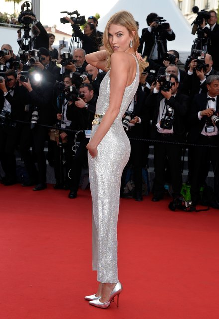 """Karlie Kloss attends the opening ceremony and premiere of """"La Tete Haute"""" (Standing Tall) during the 68th annual Cannes Film Festival on May 13, 2015 in Cannes, France. (Photo by Pascal Le Segretain/Getty Images)"""