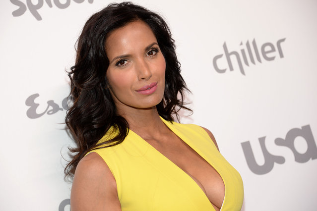 Television personality Padma Lakshmi attends the NBCUniversal Cable Entertainment 2015 Upfront at The Jacob Javits Center on Thursday, May 14, 2015, in New York. (Photo by Evan Agostini/Invision/AP Photo)