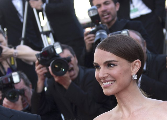 "Actress and director Natalie Portman poses on the red carpet as she arrives with cast members for the screening of her film ""A Tale of Love and Darkness"" during the 68th Cannes Film Festival in Cannes, southern France, May 16, 2015. (Photo by Yves Herman/Reuters)"