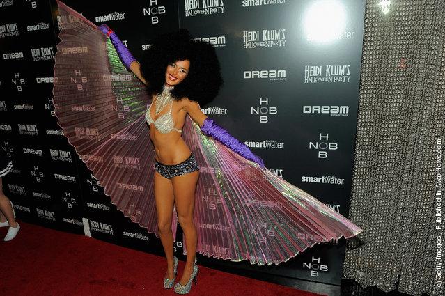 Model Nicole Trunfino attends Heidi Klum's 12th annual Halloween party