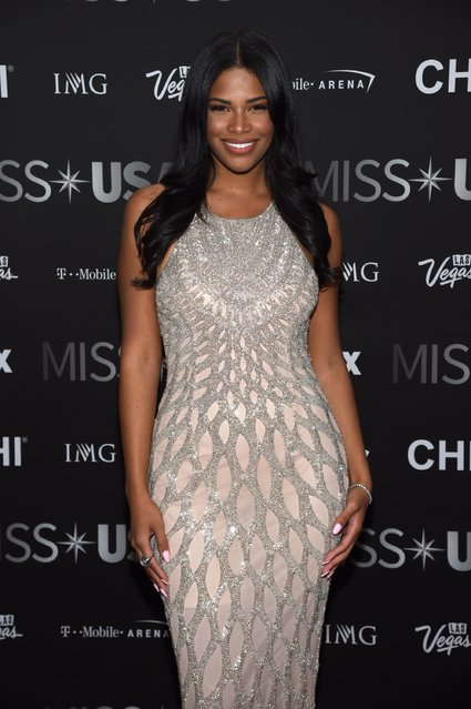 Miss Teen USA 2010 Kamie Crawford attends the 2016 Miss USA pageant at T-Mobile Arena on June 5, 2016 in Las Vegas, Nevada. (Photo by Ethan Miller/Getty Images)